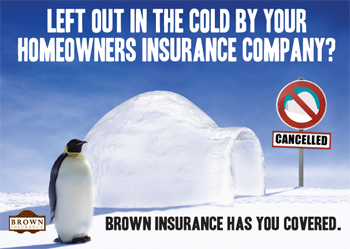 brown insurance postcard