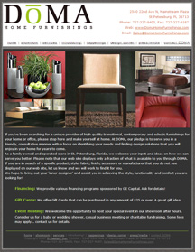 DOMA contemporary furniture web site